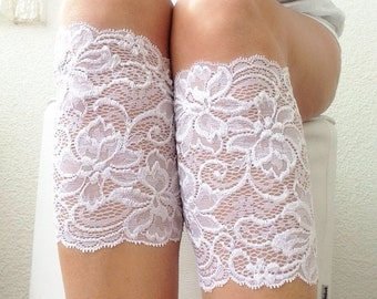 white lace boot cuffs, womens boot cuffs, lace boot topper, Bridesmaid Gift for Her
