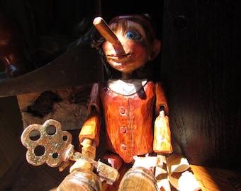 Wooden Pinocchio hinged