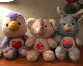 3 vintage Care Bear Cousins