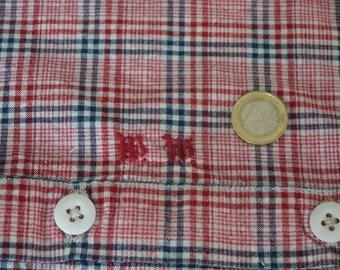 Antique linen pillow, hand-woven, porcelain knobs