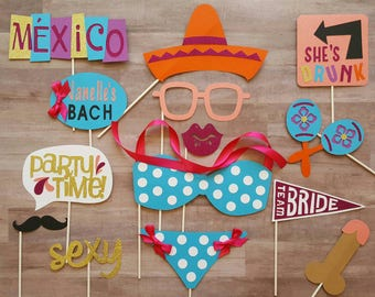 Mexico Themed Bachelorette Photo Booth Props