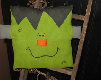 Halloween Decoration, Frankenstein Pillow, Bowl Filler,Handmade Pillow,Fall Tuck,FAAP~HAFAIR~TEAMHAHA