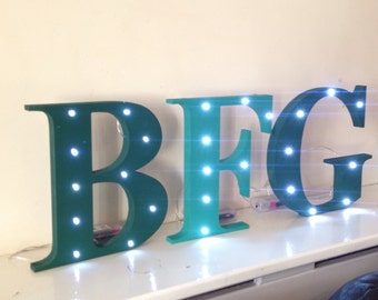 Any letters, Wooden light letter, light number, light symbol. Party decor, childrems bedroom ideas. Classroom decor