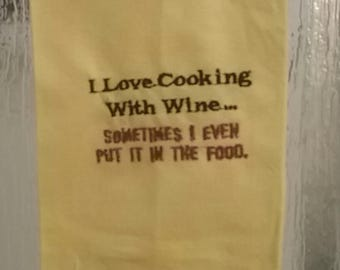 Hand towel-funny wine sayings