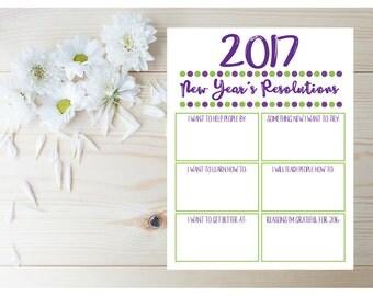 New Years Resolution - Childrens Planner Printable - Kids Planner - Goals and Resolutions - Kids Checklist - Goal Planner - Kids Printables