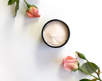 Rose + Ylang Ylang whipped body butter | 100% natural Organic body butter | Hands & body Moisturizer | Shea butter Cream