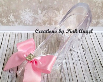 Pink Princess Slipper Cake Topper, Shoe Cake Topper, Pink High Heel Cake Topper, Princess Slipper Topper, Includes 1 Slipper Only