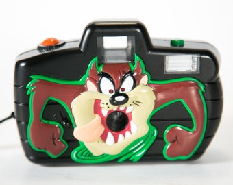 Looney Tunes Talking Taz 110 Film Flash Camera - Rare Toy Camera
