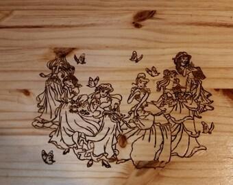 Handmade Princess Kids Nightstand
