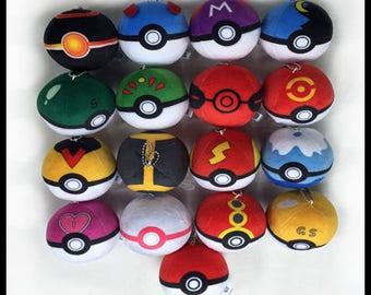 Pokemon Plush Pokeballs Keyring's