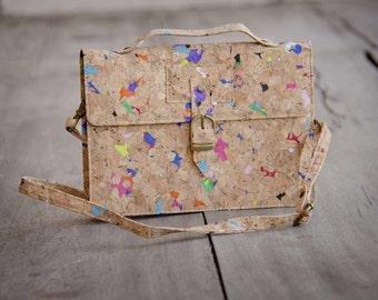 Cork Bag, Cork Clutch, Purse - Shoulder bag/ Handbag made from recycled cork, Handmade
