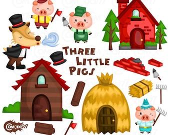 Little pigs clipart | Etsy