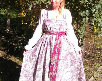 "Russian traditional kosoklinny sarafan (sundress) ""Kupava"""