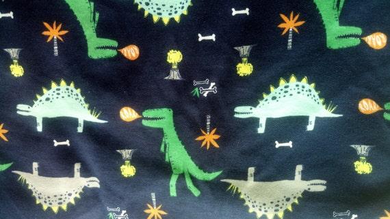Kids baby print rib knit fabric 100 cotton dinosaur prints for Knit fabric childrens prints