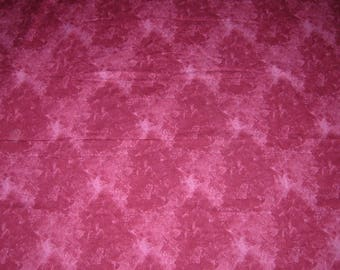 Cotton Fabric In A Shaded  Dark Raspberry, 2 Yards By Washart Textiles