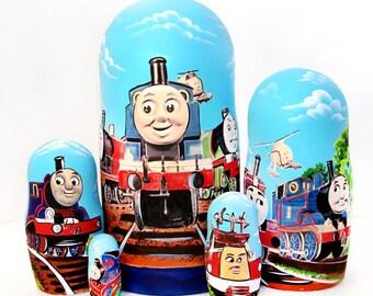 Nesting doll Thomas train