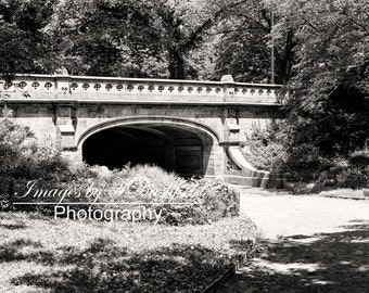 New York City, Central Park Path, Black and White, Street Photography, Fine Art Photography, Fine Art Print