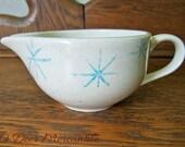 Mid Century Royal China Celeste Pattern Blue Starbursrt Creamer ~ Atomic Star Cream Pitcher