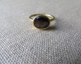 Smoky Quartz Oval Ring