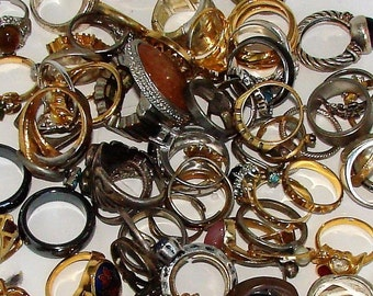 """Women""""s Rings 11.2 Ounces Large Lot Jewelry Wear, Crafts & More"""