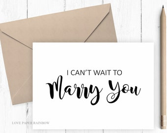 I can't wait to marry you, wedding eve card, card for groom, card for bride, bride from groom, groom for bride, groom wedding card