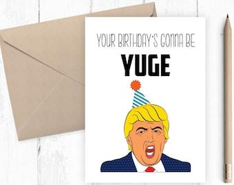 Trump birthday card Etsy