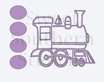 Train PYO Cookie Stencil