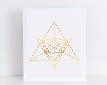 Minimalist Geometric Art, Gold Decor, Abstract Linear Print, Wall Decor, Modern Minimalist Poster, Wall Art