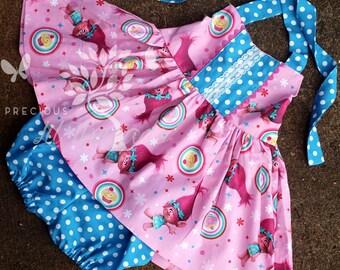 Girls Trolls Dress- Trolls Tunic Top - Toddler Girls Trolls Dress- Trolls Birthday Dress- Trolls outfit- 12m, 18m, 2t, 3t, 4t, 5t, 6