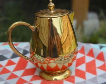 Antique Vintage Brass Tea Pot
