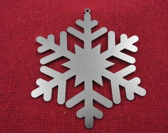 Stainless Steel Snowflake Christmas Ornament, Christmas Ornaments, Christmas Decoration, Christmas Decor, Tree Ornament, Laser Cut