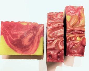 Nectarine & Honey Soap, Nectarine Soap, Cold Process Soap, Honey Soap, Citrus Soap, Homemade Soap, Handmade Soap, Summer  Soap