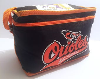 Vintage Baltimore Orioles and C&P Telephone Insulated Zippered Six-Pack Tote, c. 1980's