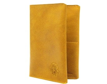 Tobacco Yellow Passport Holder, Men passport holder, Spacey passpot holder, Travelling accessories, Western passport cover, Tobacco yellow