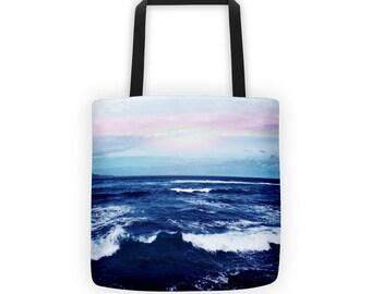 Beach Blue Ocean Tote Bag