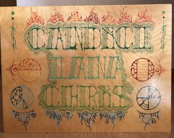 Hand-Drawn Custom Name Art (Tribal Inspired)