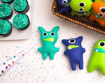 Set of 8+ felt monsters Adopt a monster party favors Little monster theme Monster 1st birthday Monster Bash Stuffed Monster Plush Monster