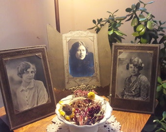 3 lovely ladies, cabinet cards, 1930s