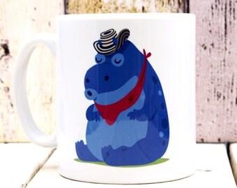 Sleeping Columbian Hippo 11oz Mug