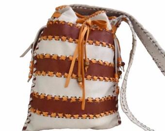 Shaman bag, Messenger bag, crossbody leather bag,  shoulder leather purse, real leather handmade bag, leather pouch