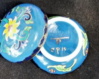 Del Prado Fine Porcelain - Blue Pill /Trinket Box Miniature Collectors Series e.p.15