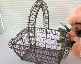 Wire Basket, Basket, Farm House Decor, Farm Decor, Egg Basket, Fruit Basket, Gift Basket