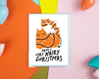 Hairy Christmas Card