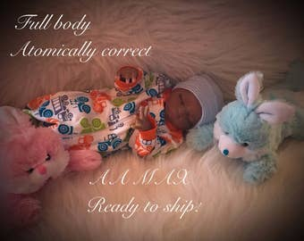 African American Reborn baby Max , full body , Atomically  Correct , ready to ship!