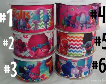 "3"" Trolls Grosgrain Ribbon"