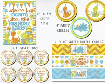 Dinosaur Birthday Printable Package, Printable Dinosaur Birthday Kit, Dinosaur Birthday Party Printables, Dinosaur Birthday Party