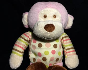 Plush Animal, Birthday Gift, Baby shower gift, stuffed monkey,