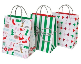 Paper Bags | Gift Bags | Christmas Wrapping | Christmas Gift Bags | 3 Per Set