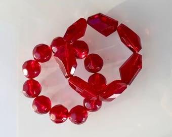 RED Stretch Bracelets