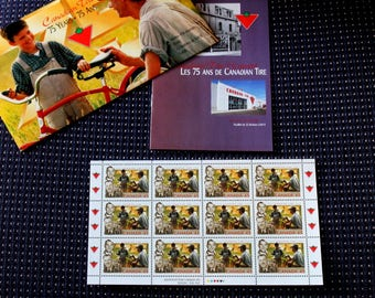 1997 CANADIAN TIRE Canadian Postage Stamp - Souvenir Sheet of 12 Postage Stamps